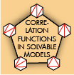 Correlation Functions in Solvable Models
